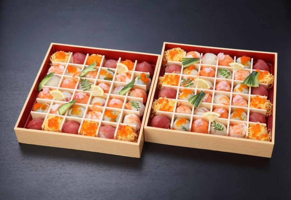 豪快手鞠寿司(2段)【A50】4人盛×2皿