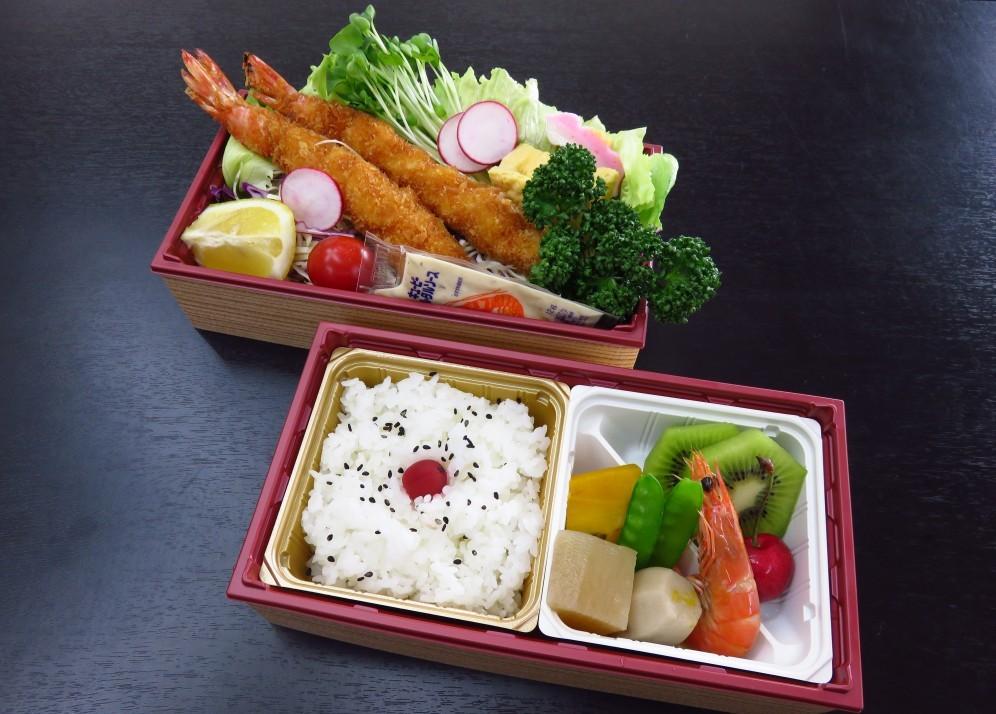 ジャンボ海老フライ弁当(2段)【A59】